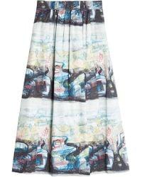 Burberry - Kinsale Printed Cotton Skirt - Lyst