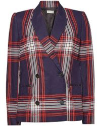 By Malene Birger - Plaid Double Breasted Jacket - Lyst