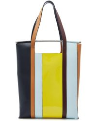 Delpozo - Great Leather Tote With Handles - Lyst