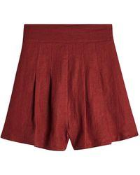 Three Graces London - Rhoda Linen Shorts - Lyst