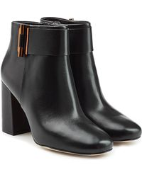 MICHAEL Michael Kors - Leather Ankle Boots With Toggle - Lyst