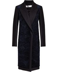 Victoria, Victoria Beckham - Coat With Velvet, Wool And Cashmere - Lyst