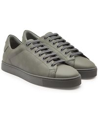 Burberry - Leather Sneakers - Lyst