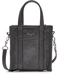 Balenciaga - Bazar Xxsmall Leather Shopper - Lyst