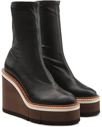 Robert Clergerie - Britt Leather Platform Boots - Lyst