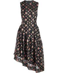 Simone Rocha - Asymmetric Print Dress - Lyst
