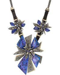 Alexis Bittar - Halskette mit Leder und Kristallen - Lyst