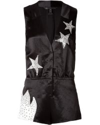 Marc By Marc Jacobs - Satin Stud Embellished Stars Playsuit - Lyst