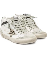 Golden Goose Deluxe Brand - Mid Star Leather Trainers With Suede And Calf Hair - Lyst
