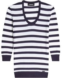 DSquared² | Striped Wool Pullover | Lyst