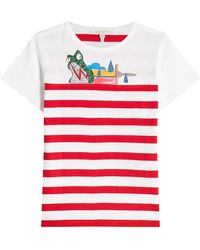 Marc Jacobs - Printed Cotton T-shirt With Embellishments - Lyst