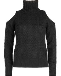 Theory - Turtleneck Pullover With Cold Shoulders - Lyst