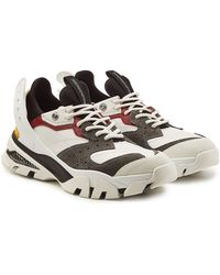 CALVIN KLEIN 205W39NYC - Carlos 10 Leather And Suede Sneakers - Lyst