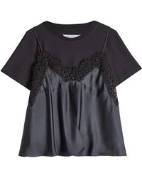 Maison Margiela | Lace Cami Layered T-shirt | Lyst