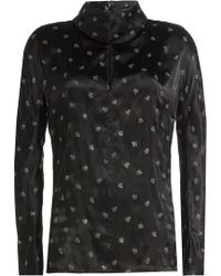 Nina Ricci - Printed Blouse With Silk - Lyst