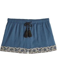 Christophe Sauvat Embellished Cotton Shorts