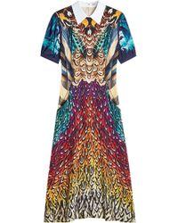 Mary Katrantzou - Osprey Printed Silk Dress - Lyst