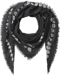 Alexander McQueen - Printed Wool Scarf With Silk - Lyst