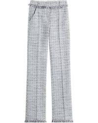 Karl Lagerfeld - Cotton-blend Straight Leg Trousers - Lyst