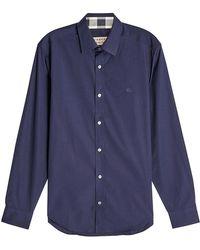 Burberry - Cotton Shirt - Lyst