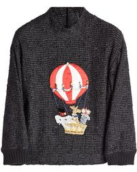 Dolce & Gabbana | Embellished Pullover With Cashmere And Cotton | Lyst