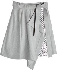Carven - Asymmetric Skirt With Pleated Insert - Lyst