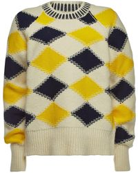Maison Margiela - Printed Pullover With Wool And Alpaca - Lyst