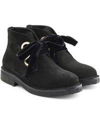 Rupert Sanderson - Suede Boots With Velvet Laces - Lyst