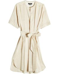 Isabel Marant   Striped Dress With Silk   Lyst