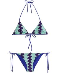 Missoni - Chevron Knit Triangle Bikini - Lyst
