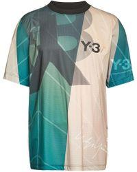 Y-3 - Football Printed T-shirt - Lyst