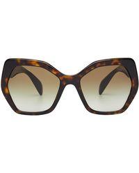 Prada - Tortoiseshell Print Sunglasses - Lyst