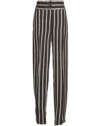 Etro - Striped High Waist Trousers - Lyst