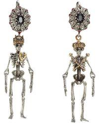 Alexander McQueen | Embellished Skeleton Earrings | Lyst