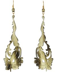 Alberta Ferretti stoned earrings - Metallic kL17Si0Zb