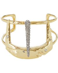 Alexis Bittar - 10kt Gold Cuff Bracelet With Crystals - Lyst