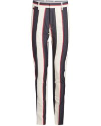 Burberry - Serpentine Printed Trousers With Cotton And Virgin Wool - Lyst