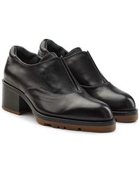 Jil Sander - Leather Court Shoes With Rubber Soles - Lyst