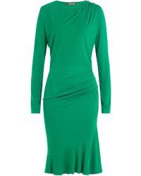 Roberto Cavalli - Draped Dress With Embellished Stars - Lyst