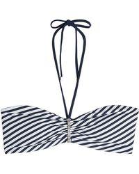 Heidi Klum - Striped Bikini Top - Lyst
