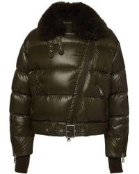 Moncler - Foulque Down Jacket With Fur Collar - Lyst