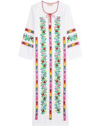 Muzungu Sisters - Embroidered Cotton Dress - Lyst