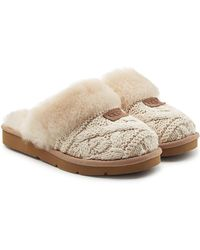 UGG - Knit Slippers With Sheepskin - Lyst
