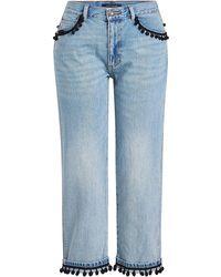 Marc Jacobs   Pom Pom Denim Trousers   Lyst