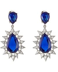 Kenneth Jay Lane - Faceted Earrings With Crystals - Lyst