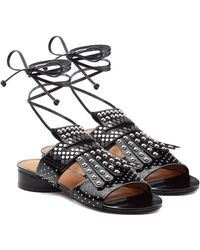 Robert Clergerie - Embellished Leather Sandals - Lyst