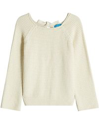 M.i.h Jeans - Waffle-knit Cotton Pullover With Open Back - Lyst