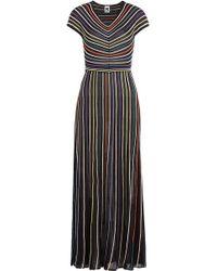 M Missoni - Striped Knit Dress - Lyst