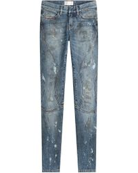 Faith Connexion - Cropped And Distressed Skinny Jeans - Lyst