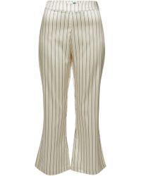 0fc30119d5 Ganni Rocky Biker Trousers In White Smoke Leather in White - Lyst